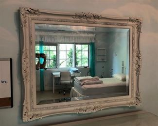 """Painted antique beveled mirror - 48"""" wide x 38"""" high - $250"""