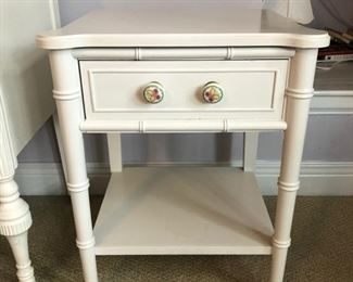 """Painted white nightstand - 20"""" wide x 15"""" deep x 22"""" high - $30"""
