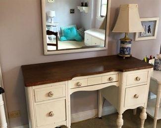 "White desk - 46"" wide x 18"" deep x 31"" high - $200"