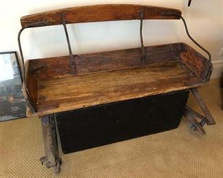 Antique carriage seat - $300