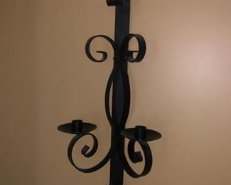 (2) wall sconces though only one is photographed