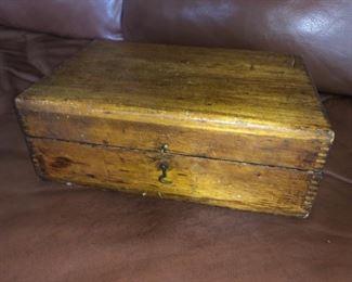Small antique wood box
