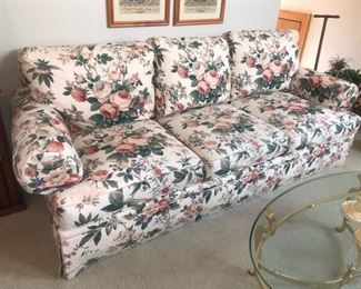 Floral couch