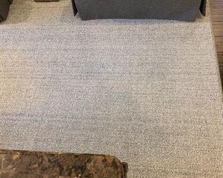 Light gray new carpet