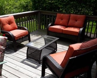 Woven allweather  furniture  five pieces