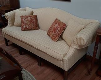 Camel back style sofa. Nice condition
