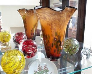 Art glass pieces