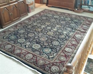 Wool rug, fine detail.  Approximately  9 x 12