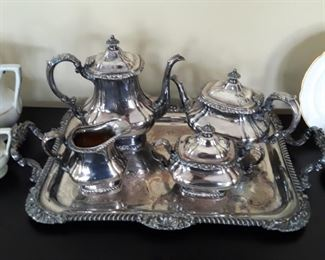 Gorham silver coffee/ tea service. Silver over copper means good quality