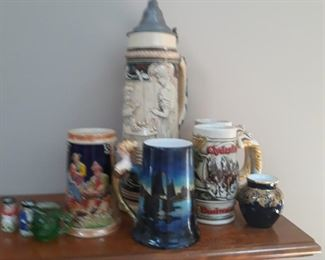 Steins and mugs. Limoges