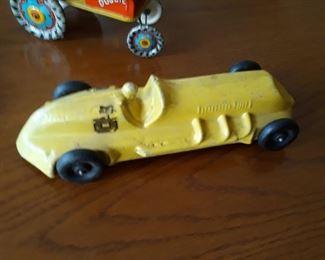 Early cast aluminum  toy Race Car