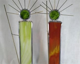 Hand made stained glass figures