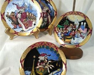 BG Copenhagen Christmas Plates