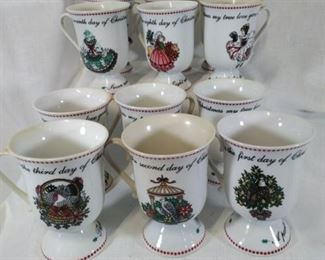 Domstications 1994 Christmas Cups