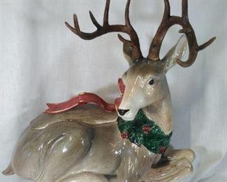 Fitz and Floyd 3 pc Reindeer Set