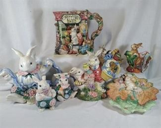 Fitz and Floyd Rabbit Collection