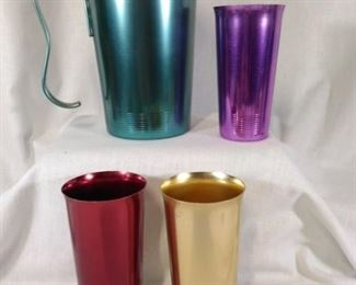 Hawthorn Aluminum Pitcher and Glasses