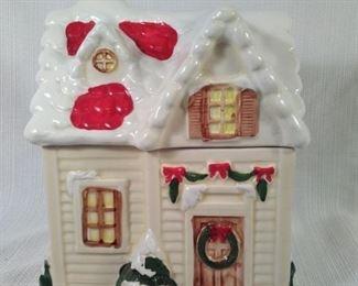 Holiday House Cookie Jar