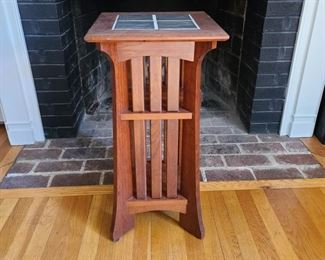 """13"""" square tile top x 26.5"""" tall"""