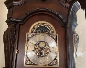 Lot 1-Howard Miller grandfather clock