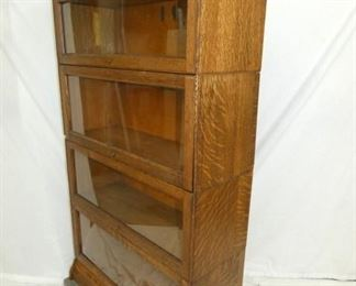 VIEW 2 4 STACK OAK LAWYERS BOOKCASE