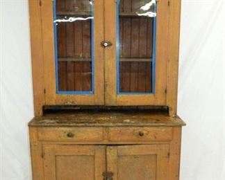 1800'S PRIM. STEPBACK CUPBOARD