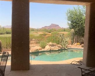 Our view at this Home is spectacular!  What a great backdrop for a lovely sale!