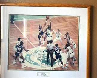 Game 4 NBA finals 1987 Boston Garden framed photograph $75