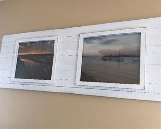 Frame  Large white slat $100