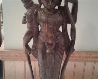 Carved goddess