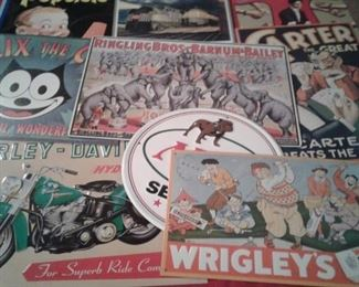 Collection of metal advertising signs 12 each or 3 for 30