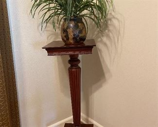 Plant and plant stand (pedestal)