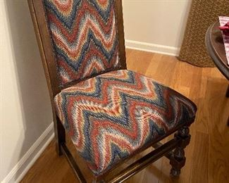 Upholstered chair (one of two)