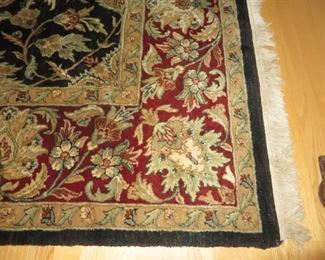 Traditional Blue & Red Oriental Medallion Style Area Rug  9 ft. x 13 ft.