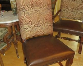 Louis XIV style os de mouto Dining Chairs Set of 6  2 Arm Chairs - 4 Side Chairs   excellent condition - Like new