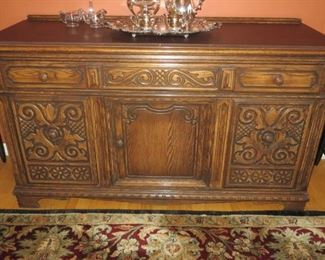Jacobean Style Oak Sideboard, Early to Mid 20th Century