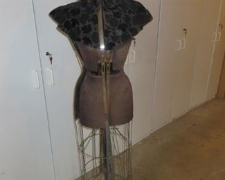 $195 Antique Industrial Dress Form circ 1912