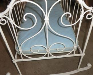 75% off now $20 was $75 Antique Wrought Iron Scrollwork Crib