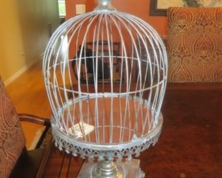 Metal Bird Cage with Mirror Bottom  new with tag