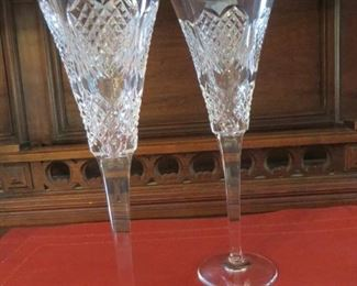 50% off now $20    was $40 Waterford Crystal Pair Flutes Heart Love Wedding (pair)