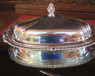 Silver plated Covered Butter Dish