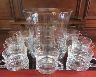 50% off now $10 was $20 Tall Glass Punch Bowl & Cups