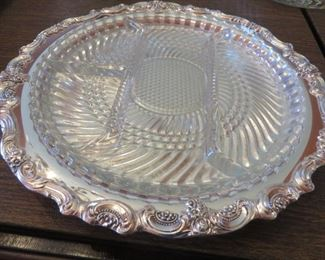 50% off now $9 was $18 Silver plated Serving Tray with Glass Insert
