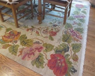 75% off Now $175 was $695 Floral Flatweave Rug