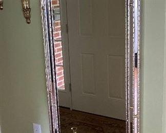 Silver leaf pier mirror w/base