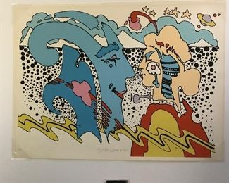 Signed numbered Peter Max