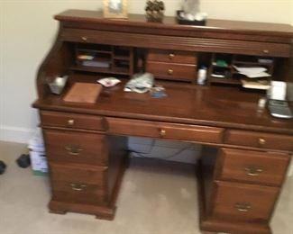 Roll top desk open