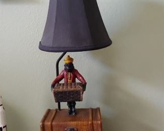"""Lamp (Monkey) with chest 26"""""""