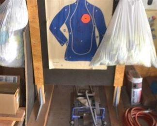 FREE STANDING TARGET.  SHOP RAGS BY THE BAG, ATV JACK NOT FOR SALE