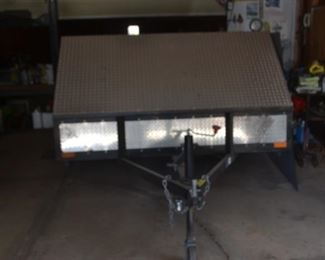 MOTORCYCLE TRAILER BY KB WELDING 2005   $1000